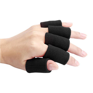4 Coolor Optional 10pcs Stretch Elastic Basketball Finger Guard Support Wraps Finger Stall Sleeve Protector Protective Gear#FC34