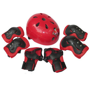 Unisex Helmet For Kids with 6Pcs Knee Protect