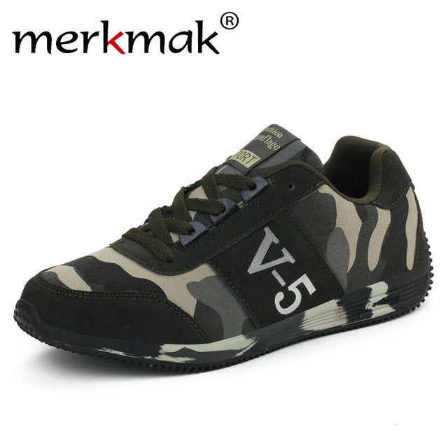 Merkmak Casual Unisex Camouflage Military Shoes 's Men Trendy Canvas Summer Breathable Camo Flat Shoes Chaussure Femme Wholesale