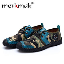 Mermak 2017 Fashion Men Shoes Casual Camouflages Design Handmader Army Green Comfortable Soft Men Shoes Footwear Zapatos Hombres
