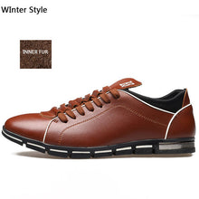 Merkmak Newly Men's Shoes Oxford 2017 British Style Fashion Casual Warm Fur Inner Winter Shoes Lace Up Flats Shoes Zapato Hombre