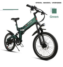 20 inch folding electric bicycle 48V lithium battery 350W aluminum6 spokes wheel electric mountain bike off-road vehicles
