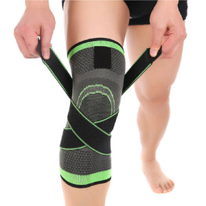 1pcs Sports 3D Weaving Knee Protector Breathable Sleeve Elastic Knee Brace Support Sports Adjustable Bandage for Running Jogging