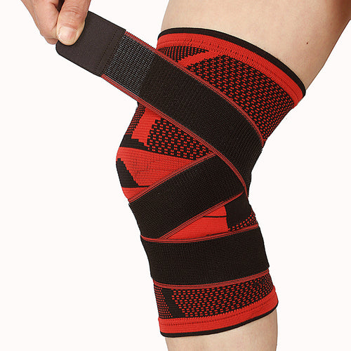 1pcs 3D Weaving Breathable Knee Brace Basketball Tennis Hiking Cycling Knee Support Professional Protective Sports Knee Pad #EW
