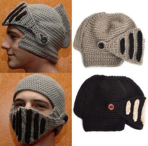 Apparel - Winter Knitted Beanie Knight Helmet