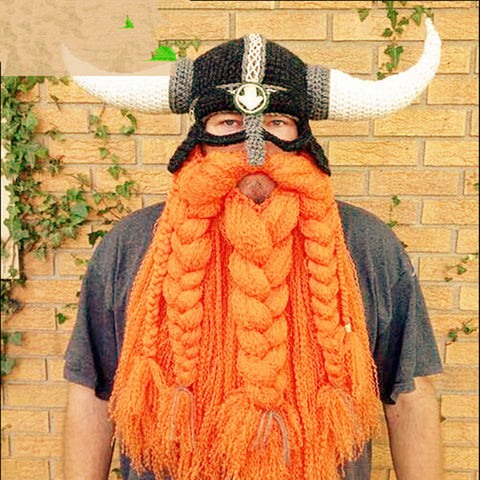 Handmade Knitted  Viking Mask