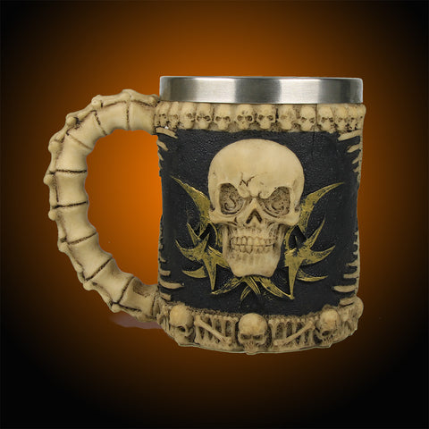 Stainless Steel Skull Coffee Mug