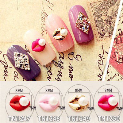 Lips Pearl 3D   10Pcs/Lot