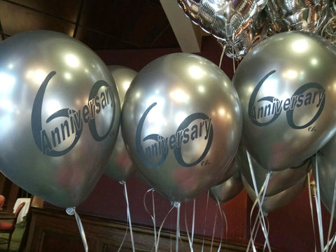 60th Anniversary Balloons