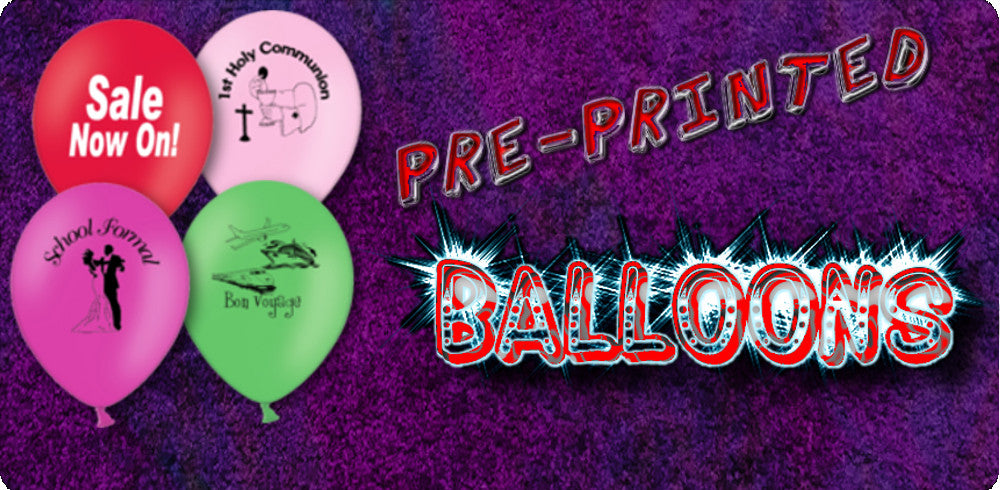 Pre Printed Balloons