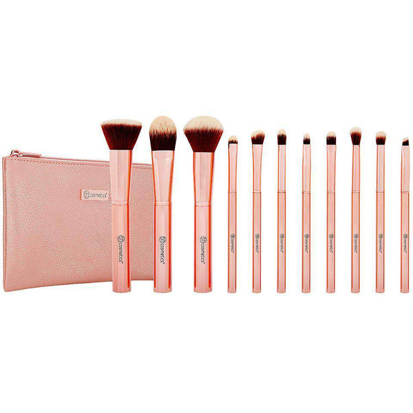 BH Cosmetics Rose Metal Brush Set гримове четки Rouge сет онлайн