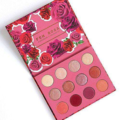 Fem Rosa x Colourpop SHE Pressed Shadow Palette гримове палитри Rouge