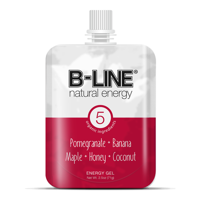B-LINE Red: Pomegranate & Banana Contains 5 pouches, 2 servings per pouch