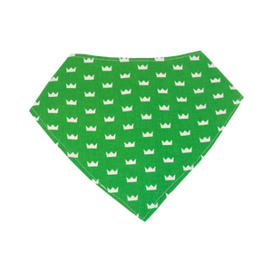 bibs - bandana - green crown