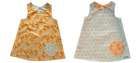 dresses - reversible - fox / brown leaf
