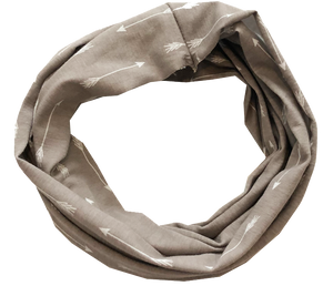 kid scarf - infinity - grey arrows