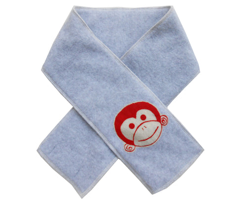 kid scarf - monkey light