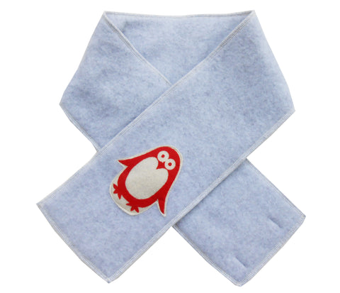 kid scarf - penguin light