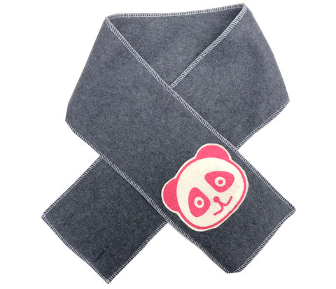kid scarf - pink panda dark