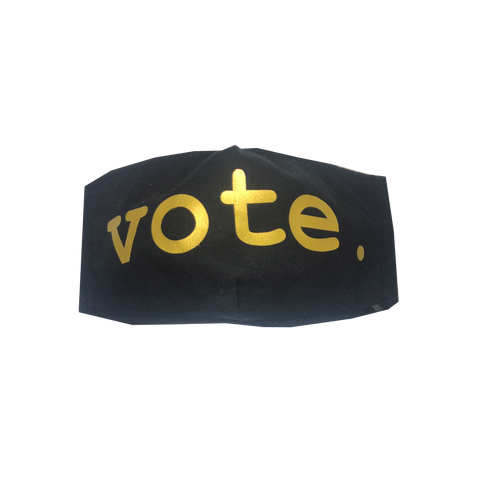 adult fitted masks - VOTE. - black