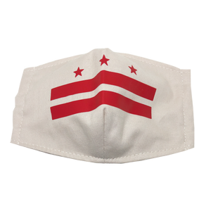 kids fitted masks - classic DC flag