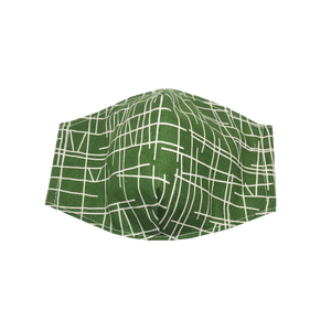 adult fitted masks - lines - olive