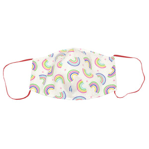 adult fitted masks - small rainbows