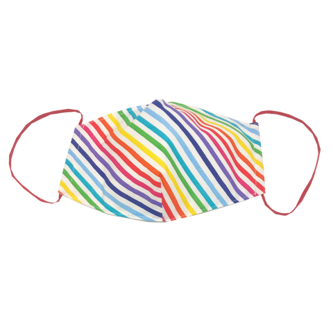 adult fitted masks - rainbow white