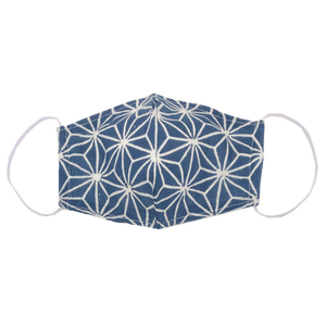 kids fitted masks - indigo star print