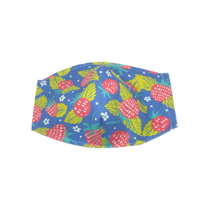 kids fitted masks - strawberry print