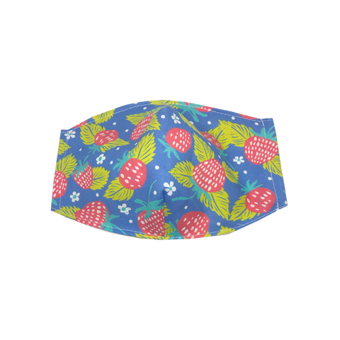 adult fitted masks - strawberry print