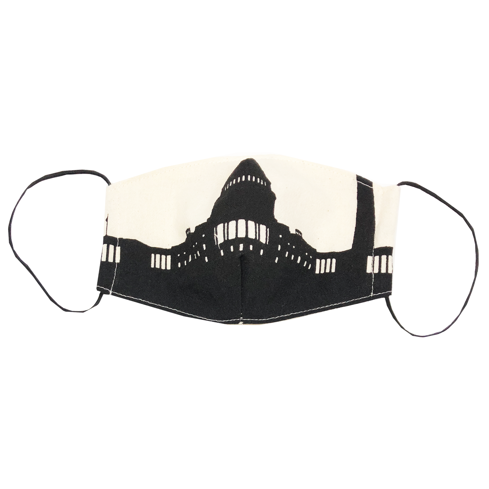 adult fitted masks - tea towel - DC skyline