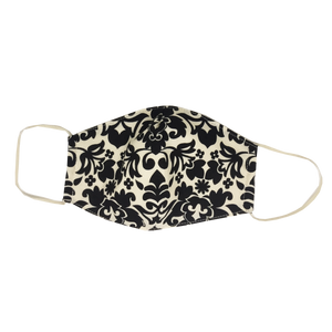 adult fitted masks - black and white print