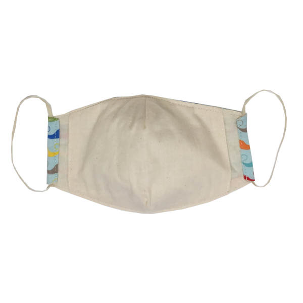 adult fitted masks - blue mustache
