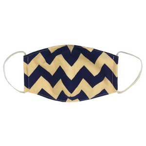 kids fitted masks - chevron