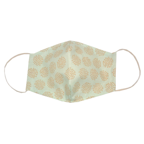 adult fitted masks - brown dot circle