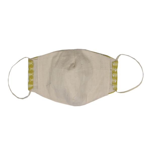 adult fitted masks - fish bone