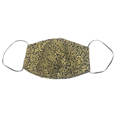 adult fitted masks - gold leaf