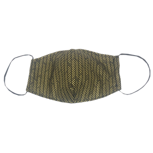 adult fitted masks - herringbone