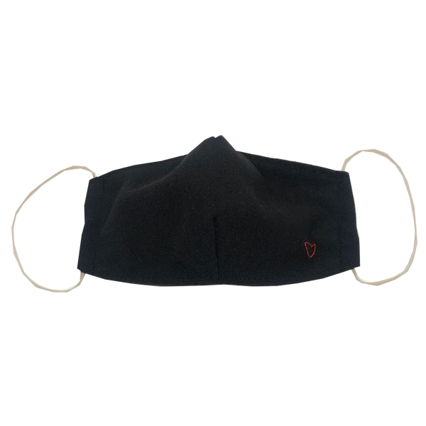 adult fitted masks - black