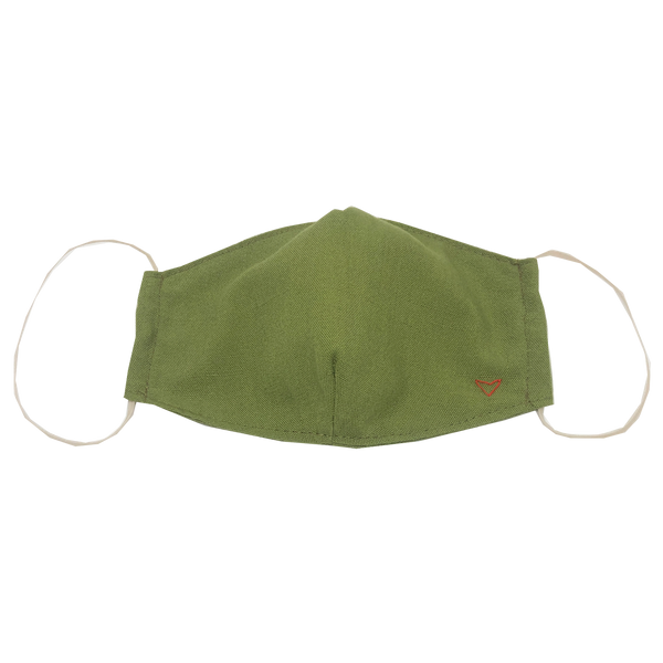 adult fitted masks - olive green