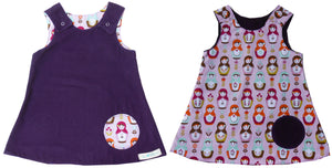 reversible - purple/ doll