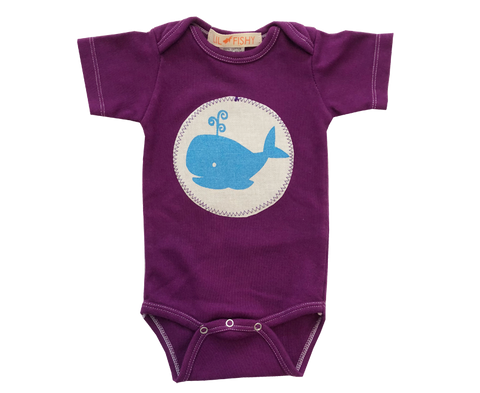 onesies -ss - whale