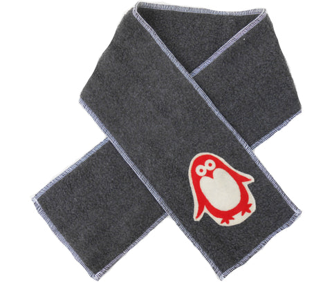 kid scarf - penguin dark