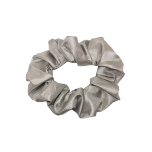 mini scrunchie - satin silver