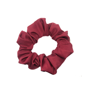 mini scrunchie - satin burgundy