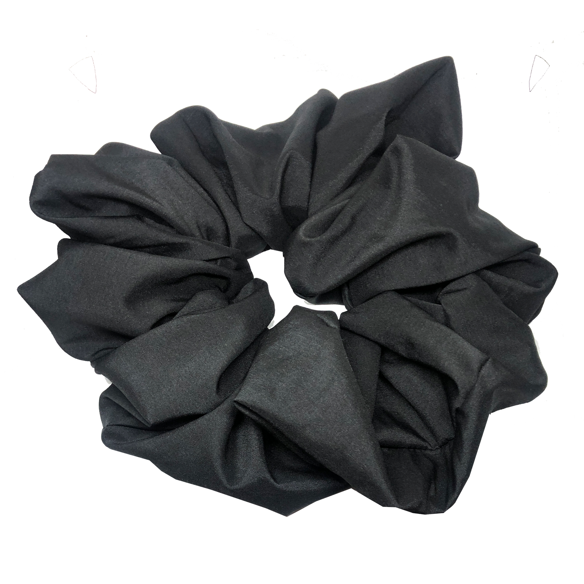oversized scrunchie - satin black