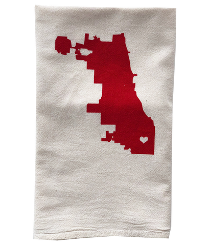 tea towel - Chicago map