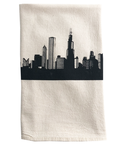 tea towel - Chicago skyline