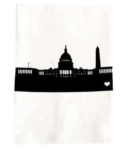 tea towel - DC skyline